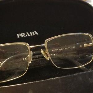 Prada VPR 75H 53 18 1BC-101 135 Glasses W Case